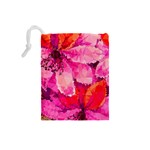 Geometric Magenta Garden Drawstring Pouches (Small)  Back