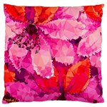 Geometric Magenta Garden Large Flano Cushion Case (One Side) Front