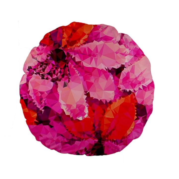 Geometric Magenta Garden Standard 15  Premium Flano Round Cushions