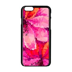 Geometric Magenta Garden Apple Iphone 6/6s Black Enamel Case