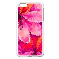 Geometric Magenta Garden Apple Iphone 6 Plus/6s Plus Enamel White Case