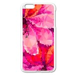 Geometric Magenta Garden Apple iPhone 6 Plus/6S Plus Enamel White Case Front