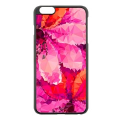 Geometric Magenta Garden Apple Iphone 6 Plus/6s Plus Black Enamel Case
