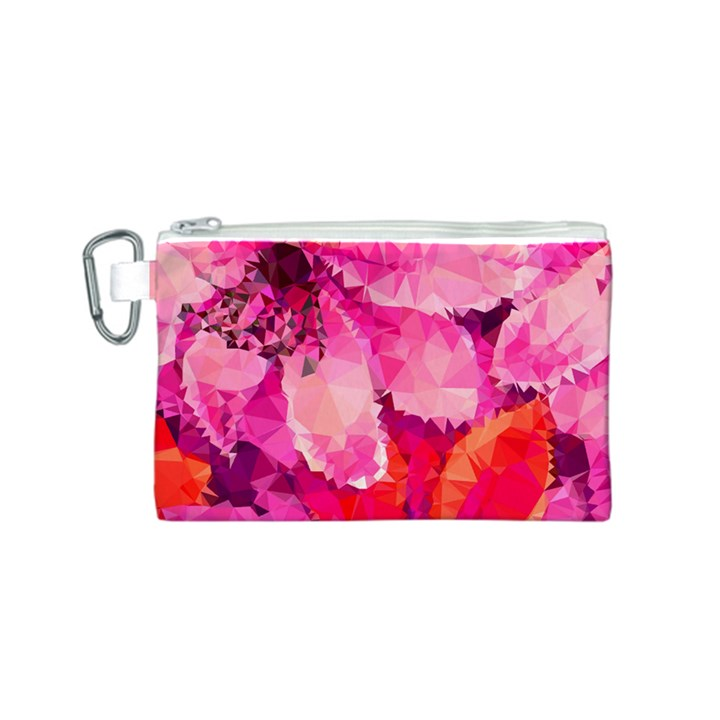 Geometric Magenta Garden Canvas Cosmetic Bag (S)