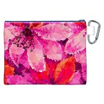 Geometric Magenta Garden Canvas Cosmetic Bag (XXL) Back