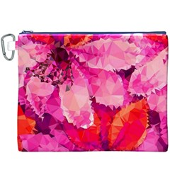 Geometric Magenta Garden Canvas Cosmetic Bag (XXXL)