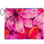 Geometric Magenta Garden Canvas Cosmetic Bag (XXXL) Front