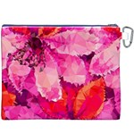 Geometric Magenta Garden Canvas Cosmetic Bag (XXXL) Back
