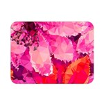 Geometric Magenta Garden Double Sided Flano Blanket (Mini)  35 x27 Blanket Back