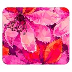 Geometric Magenta Garden Double Sided Flano Blanket (Small)  50 x40 Blanket Back