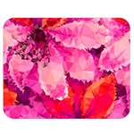 Geometric Magenta Garden Double Sided Flano Blanket (Medium)  60 x50 Blanket Front