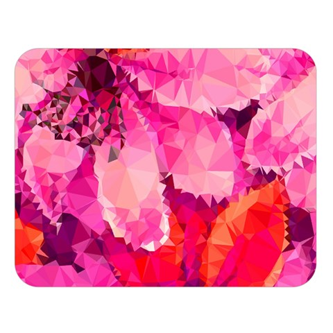Geometric Magenta Garden Double Sided Flano Blanket (Large)