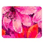 Geometric Magenta Garden Double Sided Flano Blanket (Large)  80 x60 Blanket Front
