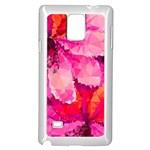 Geometric Magenta Garden Samsung Galaxy Note 4 Case (White) Front
