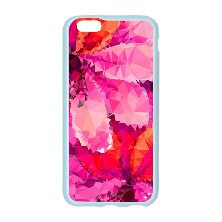 Geometric Magenta Garden Apple Seamless iPhone 6/6S Case (Color)