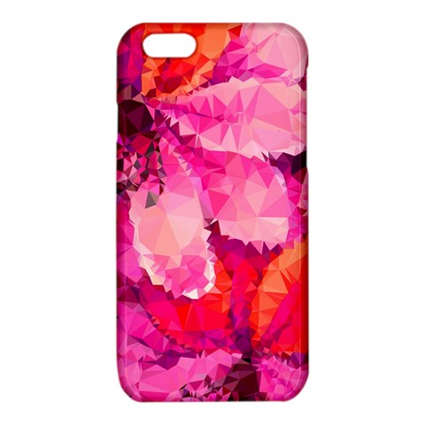 Geometric Magenta Garden iPhone 6/6S TPU Case