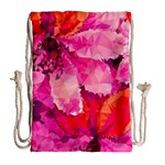 Geometric Magenta Garden Drawstring Bag (Large) Back