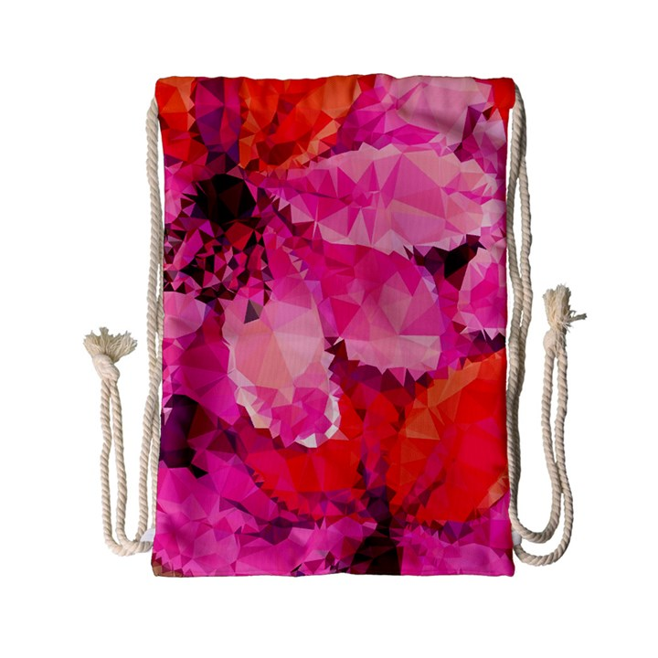 Geometric Magenta Garden Drawstring Bag (Small)