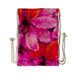 Geometric Magenta Garden Drawstring Bag (Small) Back