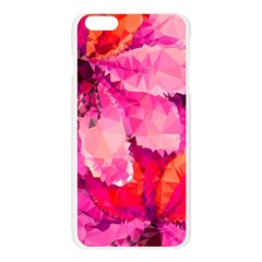 Geometric Magenta Garden Apple Seamless iPhone 6 Plus/6S Plus Case (Transparent)