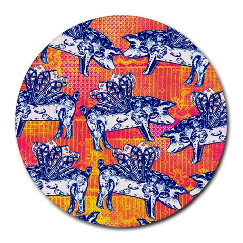 Little Flying Pigs Round Mousepads