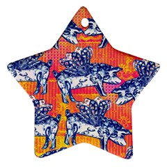 Little Flying Pigs Ornament (star)