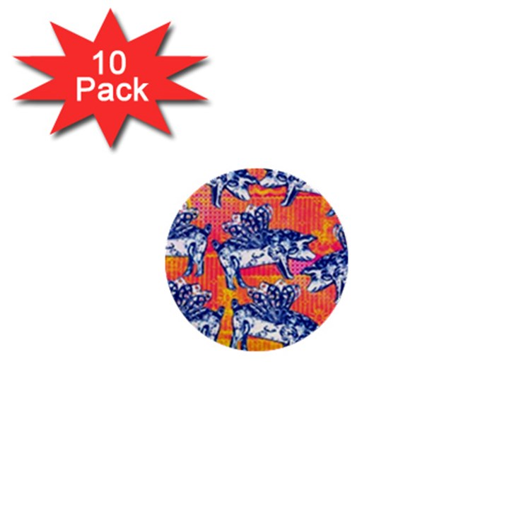 Little Flying Pigs 1  Mini Buttons (10 pack)