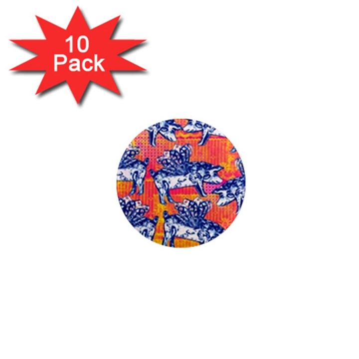 Little Flying Pigs 1  Mini Magnet (10 pack)