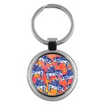 Little Flying Pigs Key Chains (Round)  Front