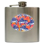 Little Flying Pigs Hip Flask (6 oz) Front