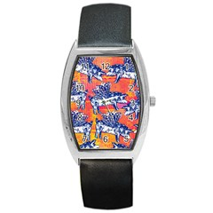 Little Flying Pigs Barrel Style Metal Watch