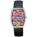Little Flying Pigs Barrel Style Metal Watch Front