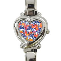 Little Flying Pigs Heart Italian Charm Watch