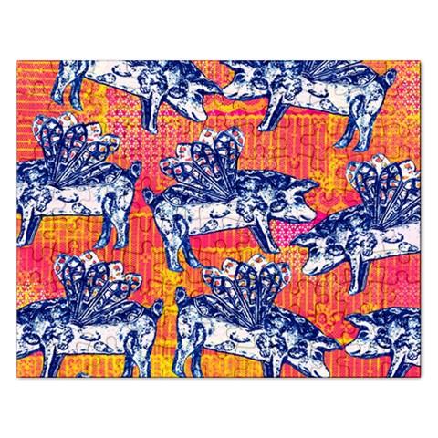 Little Flying Pigs Rectangular Jigsaw Puzzl