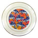 Little Flying Pigs Porcelain Plates Front