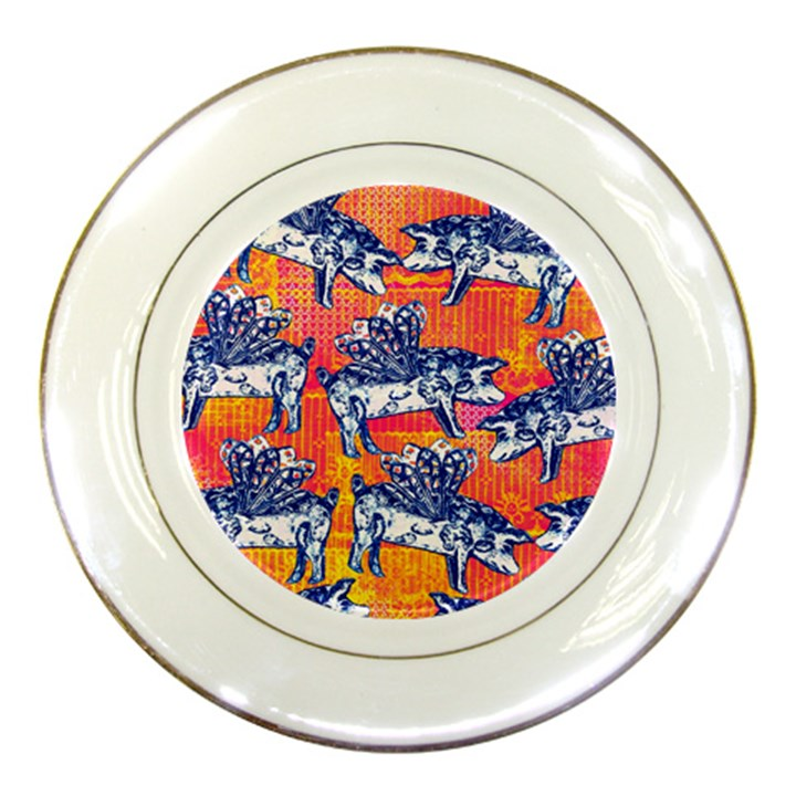 Little Flying Pigs Porcelain Plates