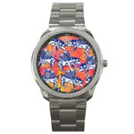 Little Flying Pigs Sport Metal Watch Front
