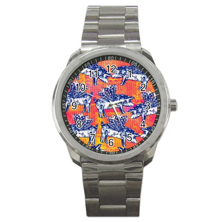 Little Flying Pigs Sport Metal Watch
