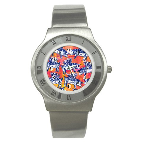 Little Flying Pigs Stainless Steel Watch