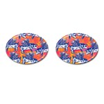 Little Flying Pigs Cufflinks (Oval) Front