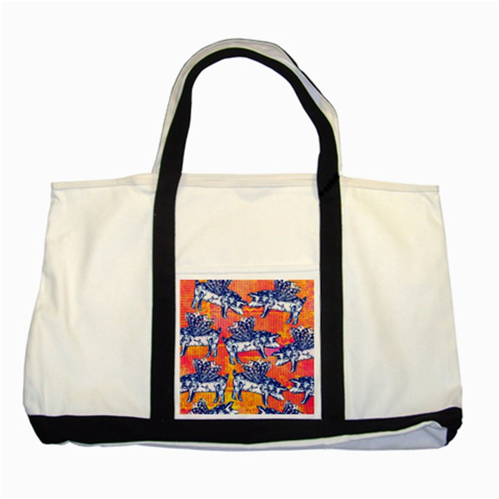 Little Flying Pigs Two Tone Tote Bag
