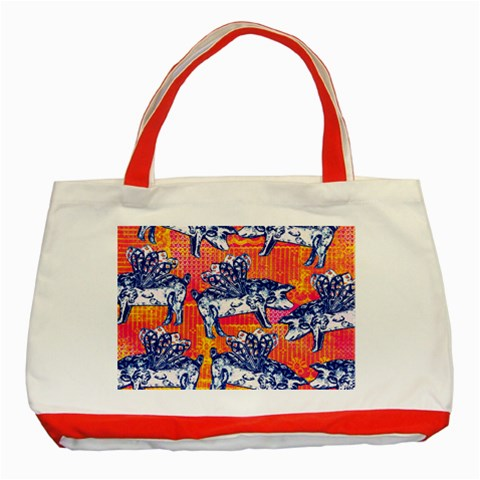 Little Flying Pigs Classic Tote Bag (Red)