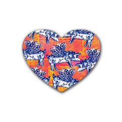 Little Flying Pigs Heart Coaster (4 Pack)