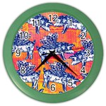 Little Flying Pigs Color Wall Clocks Front