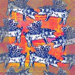 Little Flying Pigs Mini Canvas 6  x 6  6  x 6  x 0.875  Stretched Canvas