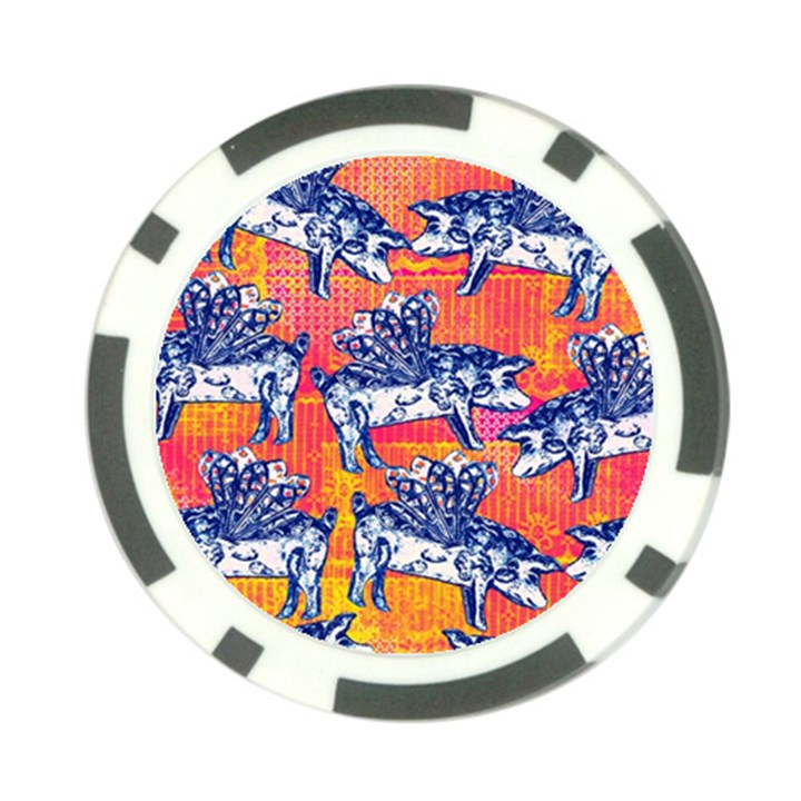 Little Flying Pigs Poker Chip Card Guards (10 pack)