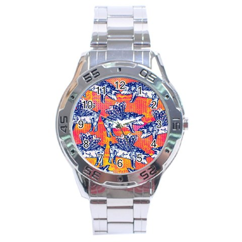 Little Flying Pigs Stainless Steel Analogue Watch