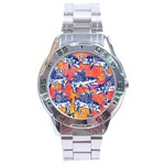 Little Flying Pigs Stainless Steel Analogue Watch Front
