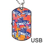 Little Flying Pigs Dog Tag USB Flash (Two Sides)  Back