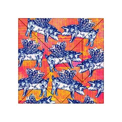 Little Flying Pigs Acrylic Tangram Puzzle (4  X 4 )